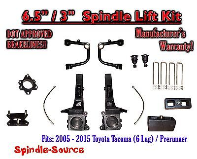 "2005 - 2016 Toyota Tacoma Prerunner 6.5"" / 3"" Lift Kit Spindles, Upper Arms UCA"