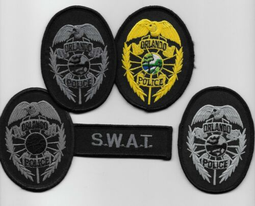 4 Orlando Police State Florida FL patch SWAT SRT Diff Grays