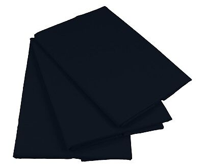Schwarz Bettlaken Betttuch Haustuch 100% Baumwolle ohne Gummizug Nur 1xPorto!
