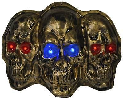 Totenkopf Schädel mit LED Halloween Gruseldeko Deko Accessoires - Led-halloween