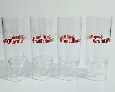 Grand Marnier branded cordial liquor 4 plastic shot glasses - Plastic Cordial Glasses