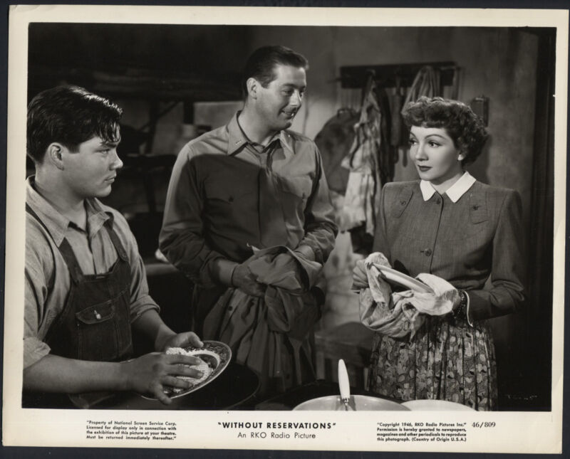 Without Reservations '46 CLAUDETTE COLBERT DON DEFORE RARE