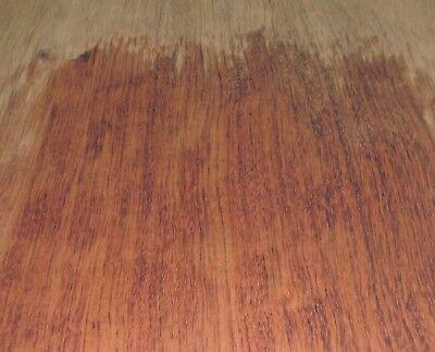 African Bubinga Wood Veneer 6.5 X 100 Raw Flitch No Backer 142 Thickness