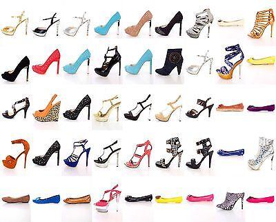 NEW Women 20 Pairs Wholesale Lot Mix High Heels Platform Pump Sandals Shoes