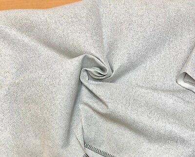 NEW NEXT / M&S SILVERY GREY UPHOLSTERY FABRIC 1.65 METRES