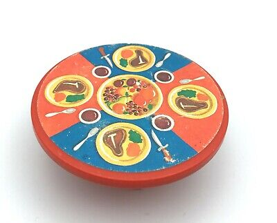 Fisher Price Little People Vintage 993 Castle RED STEAK TABLE Round