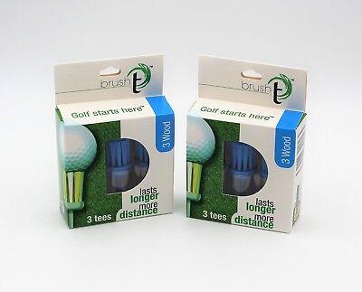 New Brush T 3 Wood Golf Tees - 6 Tees