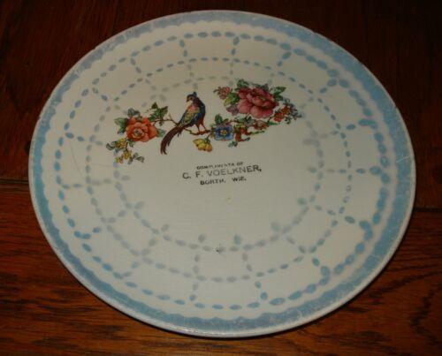 Antique Borth WI C. F. Woelkner  Souvenir  Plate