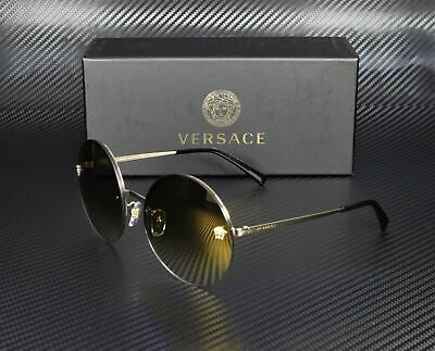 VERSACE VE2176 12526U Pale Gold Brown Grad Mirror Gold 59 mm Women's Sunglasses