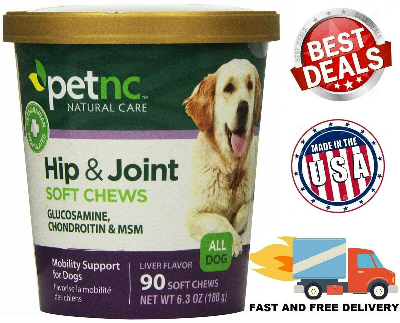 GLUCOSAMINE CHONDROITIN MSM FOR DOGS Support Hip and Joint H