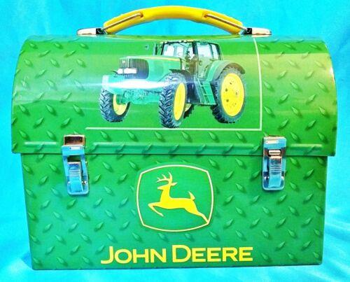 "New!  John Deere Green Tractor Small Tin Box Lunch or Trinket Box 7""x5.5"""