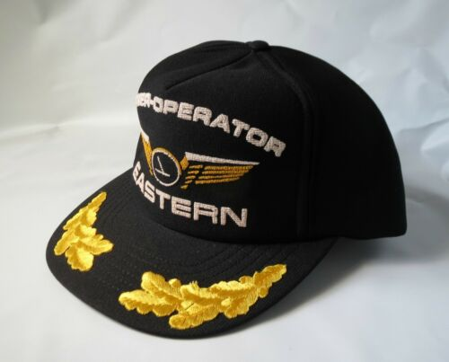 Eastern Airlines Owner Operator Hat Cap Aviation Black Vintage Gold