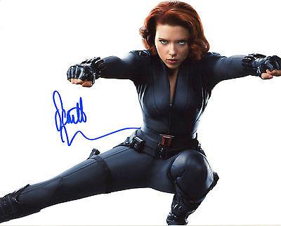 OHANSSON 2 Black Widow Avengers autographed signed photo (Avengers 2-black Widow)