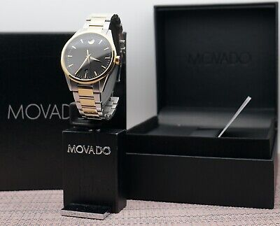 Swiss Movado Stratus 2Tone 18K Gold.Plated Stainless Steel Men's model # 0607245