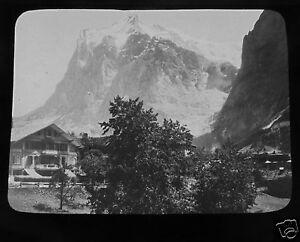 Glass-Magic-lantern-slide-THE-WETTERHORN-C1890-SWITZERLAND