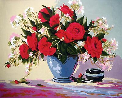 Freude Teppiche Rose (Grafitec Bedruckt Wandteppiche / Gobelinstickerei Leinwand – Rote Rosen Freude)