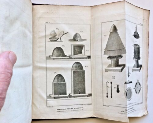 1817 Huish: TREATISE on the NATURE, ECONOMY & MANAGEMENT of BEES hb/400pp/PLTS