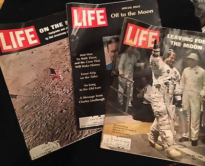 """Life Magazine Special """"Moon"""" Issues Collection 1969 (set Of 3)"""