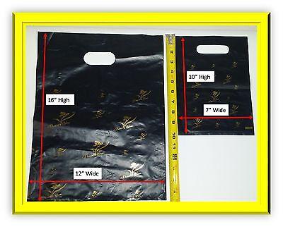 Large Die-cut Plasticshoppingretail Bags Whandle- Thank You Printedstamped