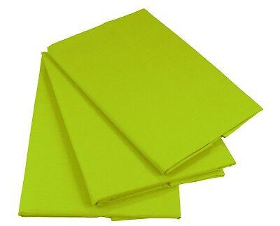Grün Bettlaken Betttuch Haustuch 100% Baumwolle ohne Gummizug Nur 1xPorto!