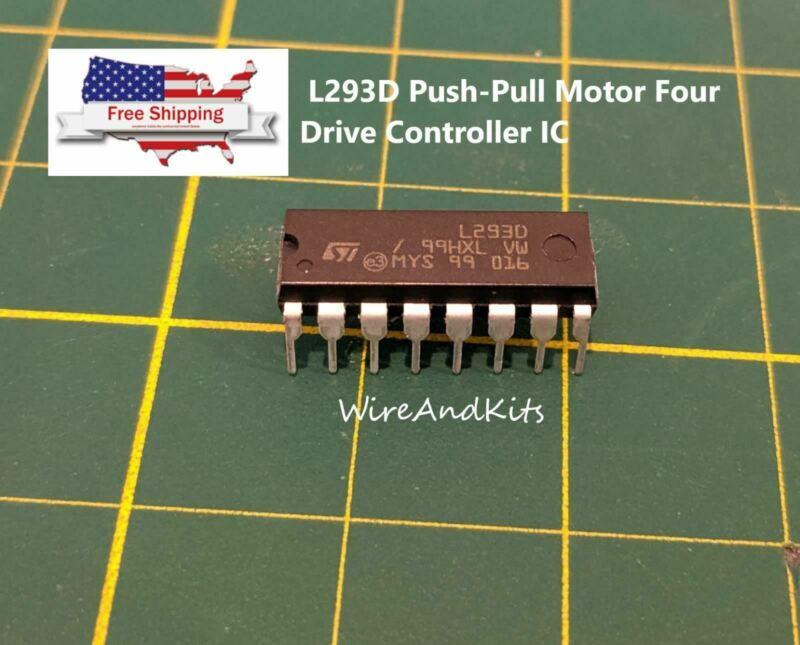 4 pcs L293D Push-Pull Motor Four Drive Controller IC DC w/H-Bridge 2 Full 4 Half