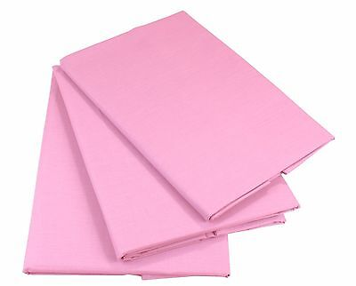 Rosa Bettlaken Betttuch Haustuch 100% Baumwolle ohne Gummizug Nur 1 xPorto!