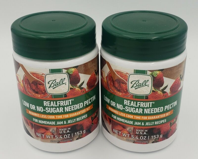2 BALL Real Fruit Low Or No-Sugar Needed Pectin Canning Food 5.4oz Free Shipping