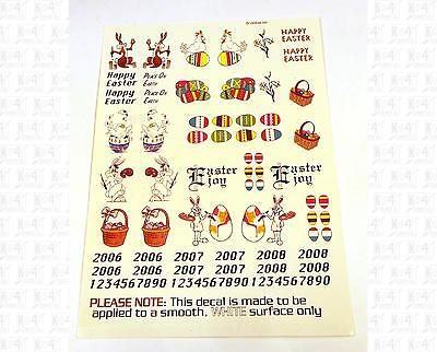 Virnex S Decals Happy Easter Easter Bunny Eggs Boxcar 305-S