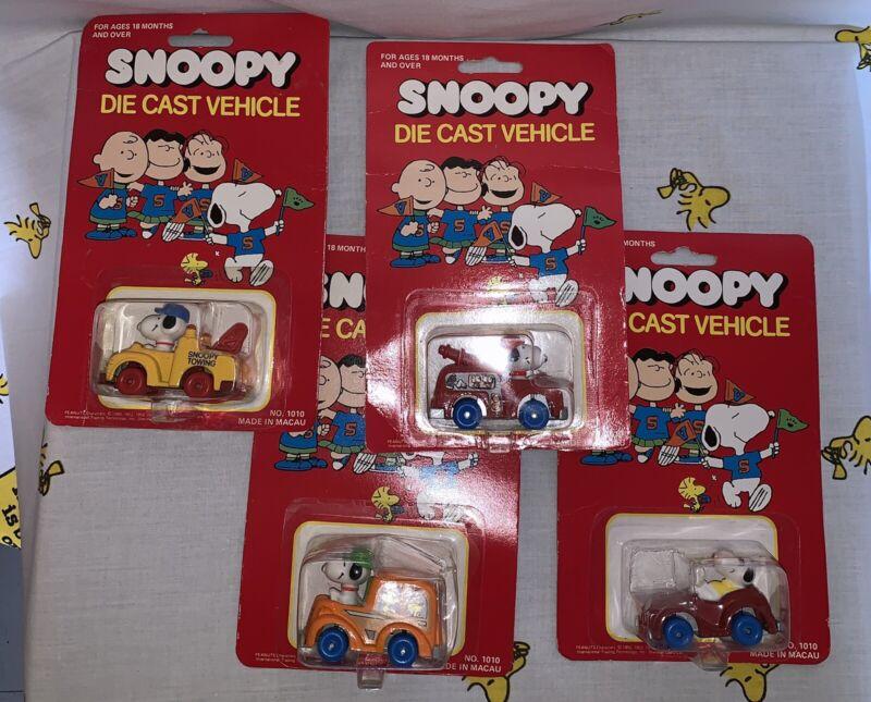 Peanuts Snoopy Vintage Die Cast Cars New In Package