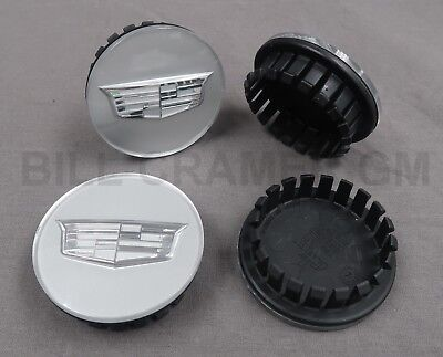 23156594 2015-2019 Cadillac ATS/CTS OEM Silver Wheel Cap 4 Set w/ Logo NEW