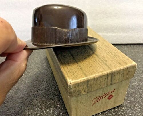 Vintage 1940's Stetson Miniature Fedora Hat And Box Salesman Sample