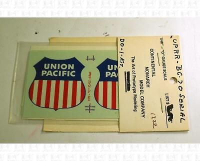 Continental Monarch Ho Decals Union Pacific Boxcar Bc 70 Automated Railway