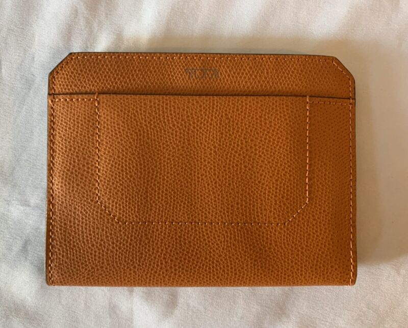 Tumi Camden Pebbled Leather Passport Cover Wallet