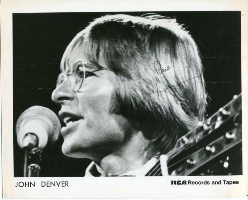 John Denver Autograph Country Roads Singer Oh God Actor Signed Photo
