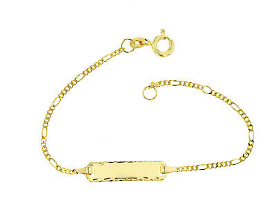 Kinderarmband ID Armband 585 Gold Gelbgold 14cm Gravur Etui u.Versand 5.53043