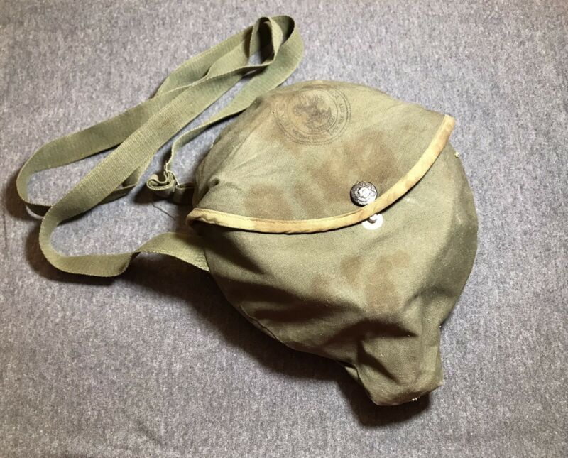 Vintage 1960s Boy Scouts Mess Kit Complete w/ Thermos Cup and Canvas Cover