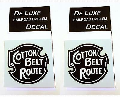DeLuxe By Virnex Decals Black White Cotton Belt SSW Herald D-206 -Two (Deluxe Cotton Black Belt)