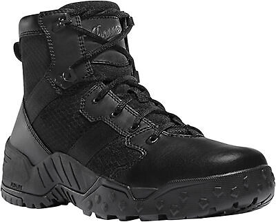 Danner Scorch Side-Zip Mens Black Faux Leather Hot 6in Uniform Boots Danner Mens Uniform Boots