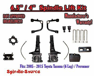 "2005 - 2018 Toyota Tacoma Prerunner 6.5"" / 4"" Lift Kit Spindles, Upper Arms UCA"