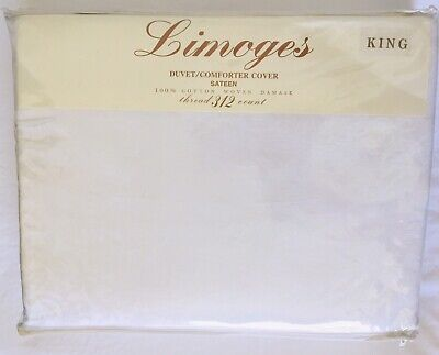 Limoges Sateen Garden Floral Damask 100% Cotton King Duvet/Comforter Cover NWT