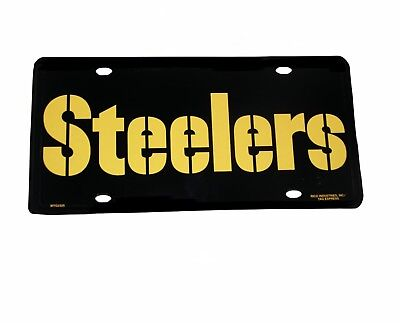 NFL Novelties-Souvenirs - Pittsburgh Steelers NFL Metal Woodmark License - Nfl Novelties