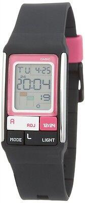 Casio LDF52-1A Ladies Pop Tone Black Fashion Sports Watch Alarm Chronograph