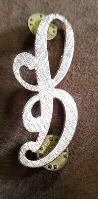 Letter B Cursive Antique Brooch Pin Monogram Initials Gold Tone Lapel ](Letter B Costumes)