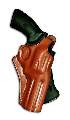 OWB LEATHER PADDLE HOLSTER FOR S&W N-FRAME MOD 627/327 357 MAG 2.5''BBL (Leather Holster For Smith And Wesson 627)