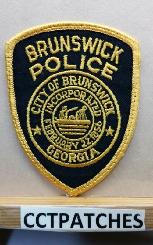BRUNSWICK, GEORGIA POLICE SHOULDER PATCH GA