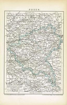 Karte von POSEN 1895 Original-Graphik