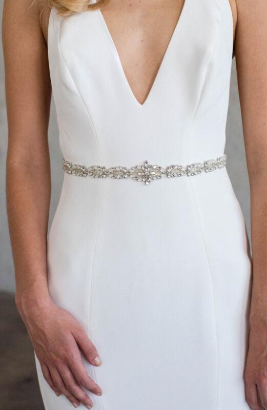 Brides & Hairpins Eliana Belt: One Size: Silver (127)