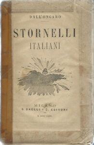 Dall'Ongaro - Stornelli Italiani - Daelli 1863 - Milano Risorgimento Patriottici - Italia - Restituzione con condivisione delle spese postali - Italia