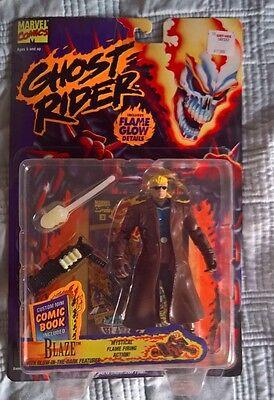 New Vintage ToyBiz 1995 Ghost Rider BLAZE Mystical Flame Firing Action Figure