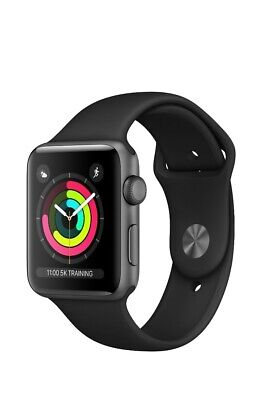 Apple Watch S3 38mm 8gb Space Grey - Aluminium Case - Black Sport Band